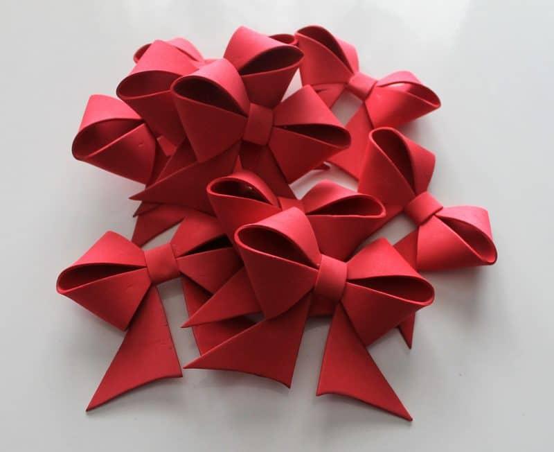 Lazo de goma eva para el rbol de navidad yo yo misma - Lazos para el arbol de navidad ...